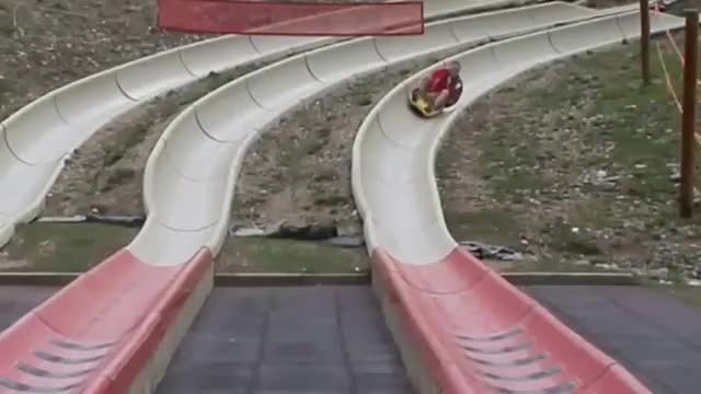 funny gif with people in the slide