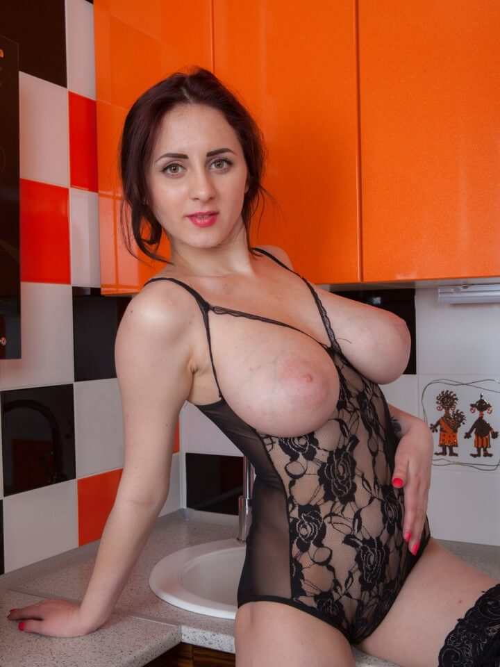Busty amateur sexy lingerie