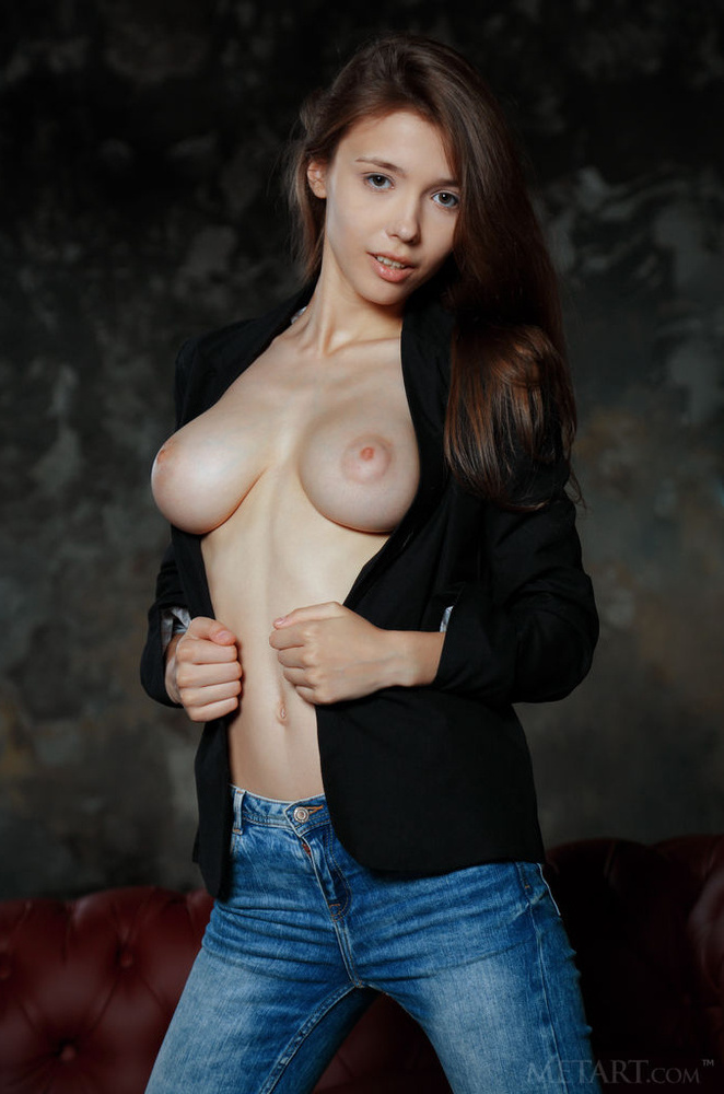 erotic girl tits out shirt