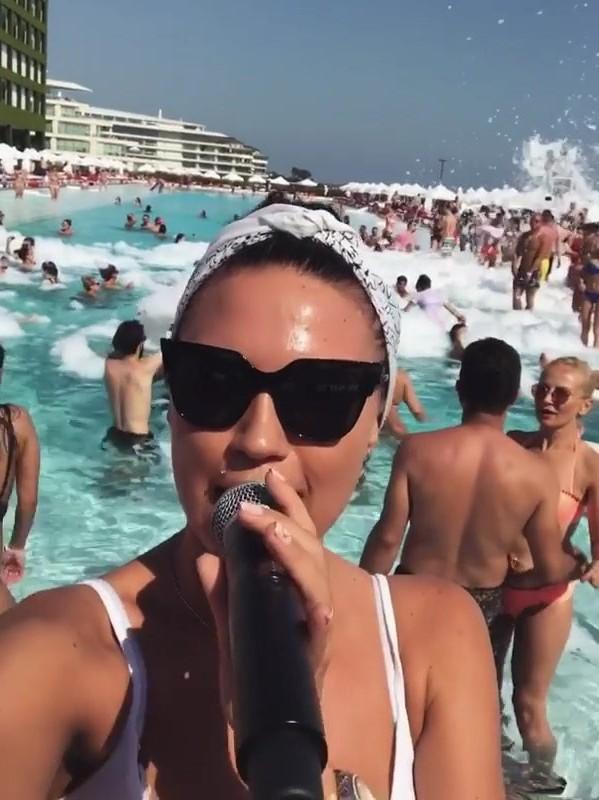 Sexy Ukrainian MC Ksuysha in a pool party