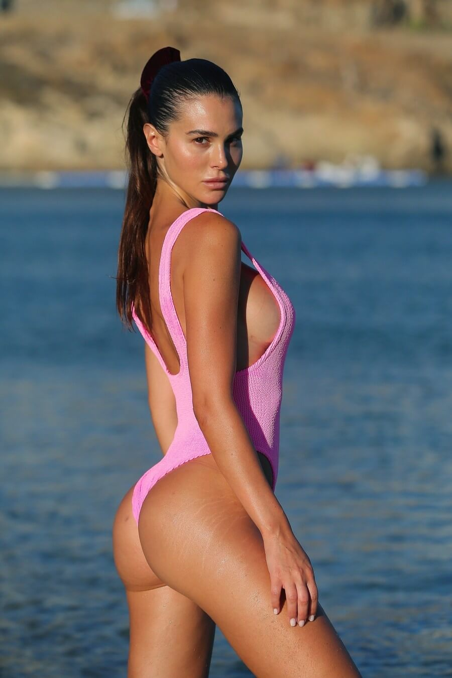 Silvia-Caruso ass sexy swimsuit