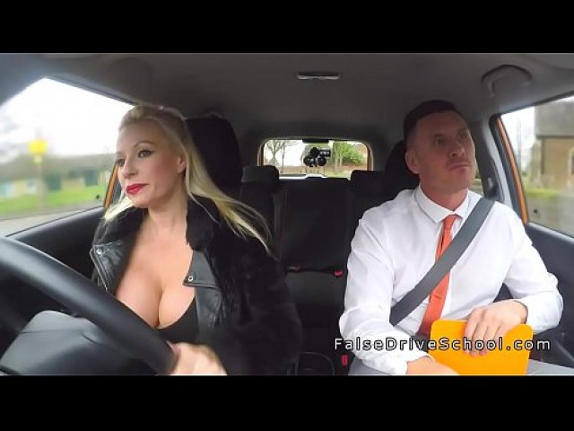 busty blonde woman sexy cleavage