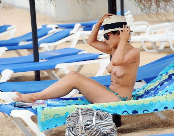 Roxanne Pallett topless in public