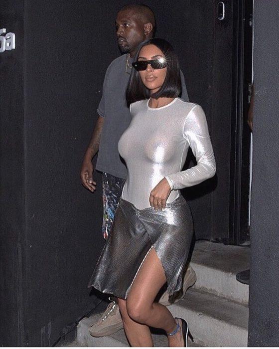 Old habits! Kim Kardashian braless in sheer top!