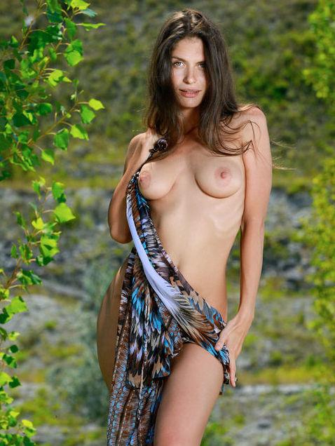 Yasmina beautiful illusion outdoors