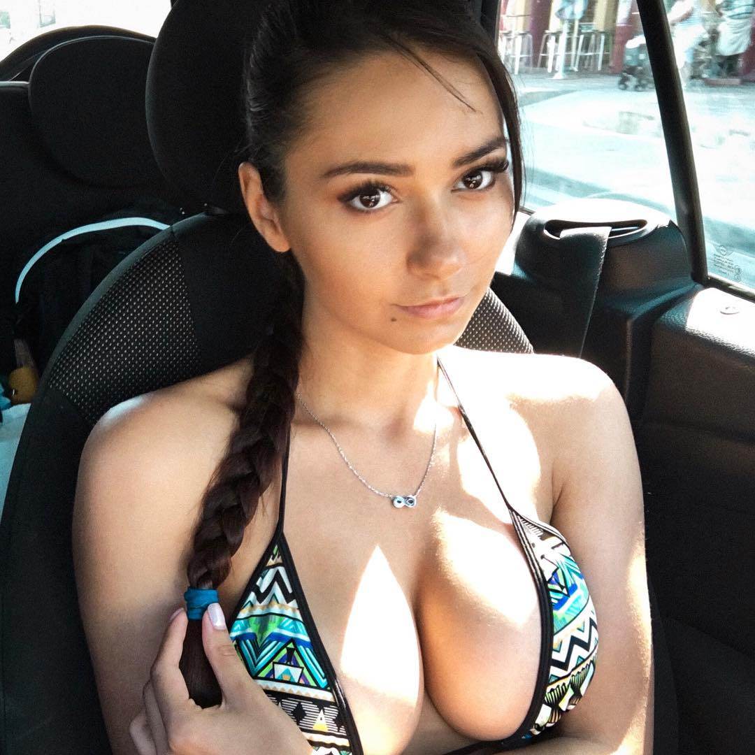 Russian model busty cleavage