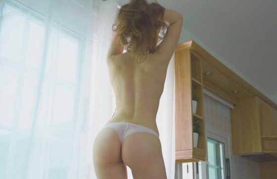 cute topless girl nice ass in panties