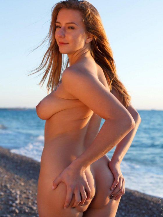 Nubiles Elison nude on the beach