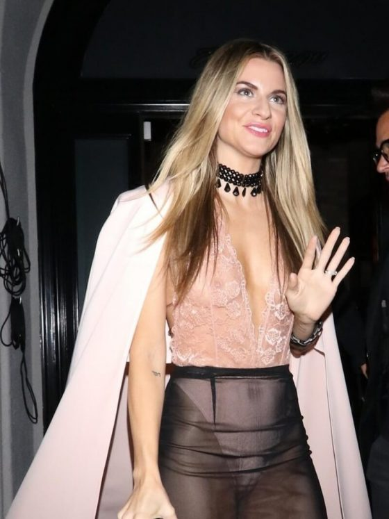 Rachel McCord shows off her tits in see-through outfit