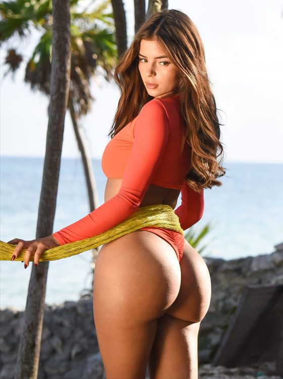 Demi Rose ass bikini