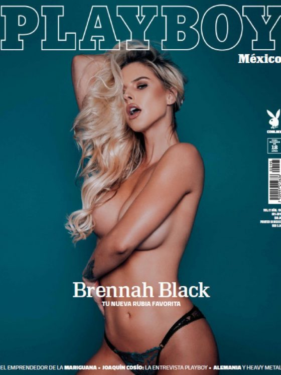 Brennah Black nude Playboy shot 1
