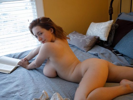 Kelsey Berneray nude on bed