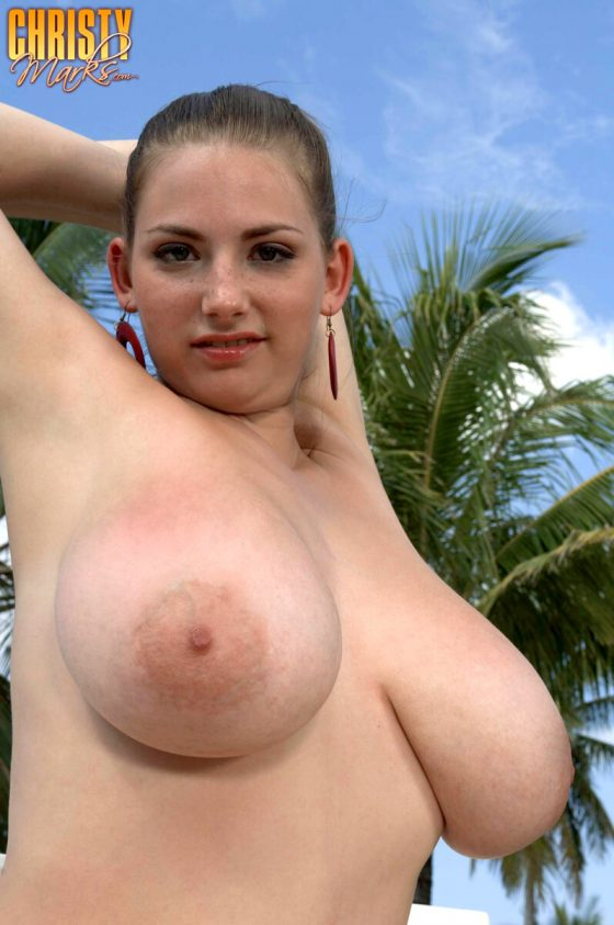 busty babe Christy Marks nude photo 5