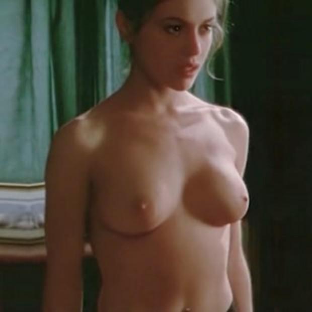 Alyssa Milano topless tits scene