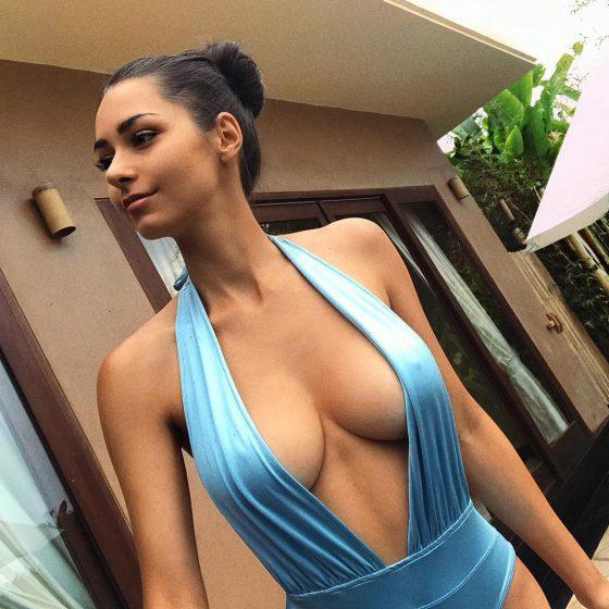 Helga Lovekaty cleavage sexy tits