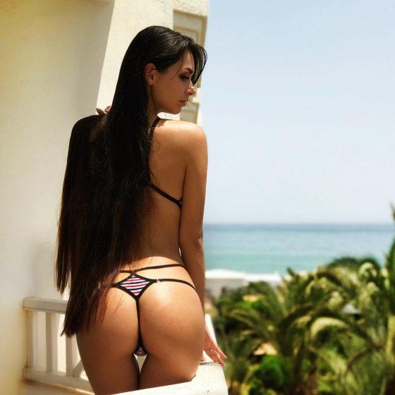 Helga Lovekaty ass sexy thong bikini