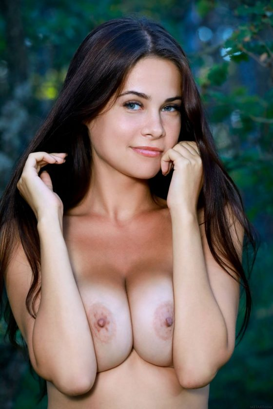 gorgeous girl Martina Mink naked  with big tits strips off 20