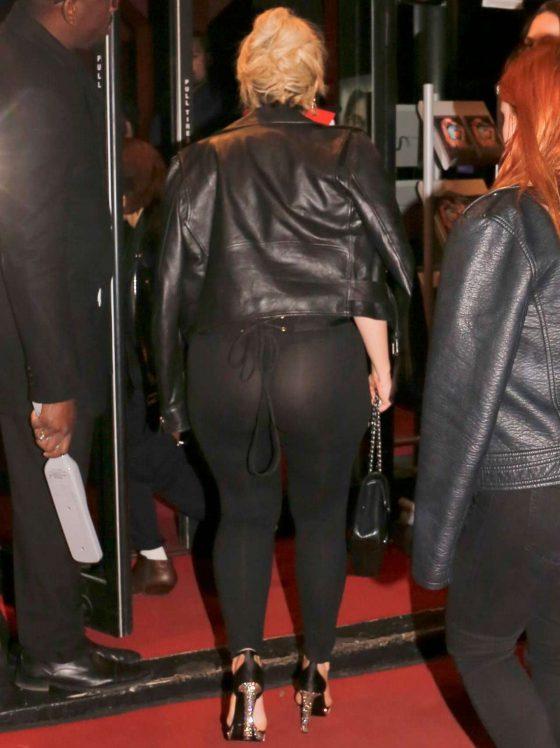 singer Bebe-Rexha big ass in thong sheer leggings