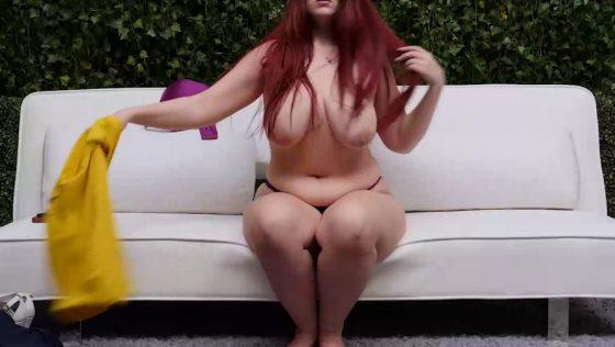 curvy woman topless big tits