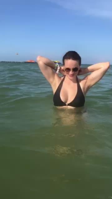 sexy girlfriend with sexy bikini