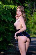 topless girl sideboob and naked ass upskirt