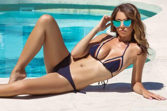 Cybergirl Ali Rose bikini poolside