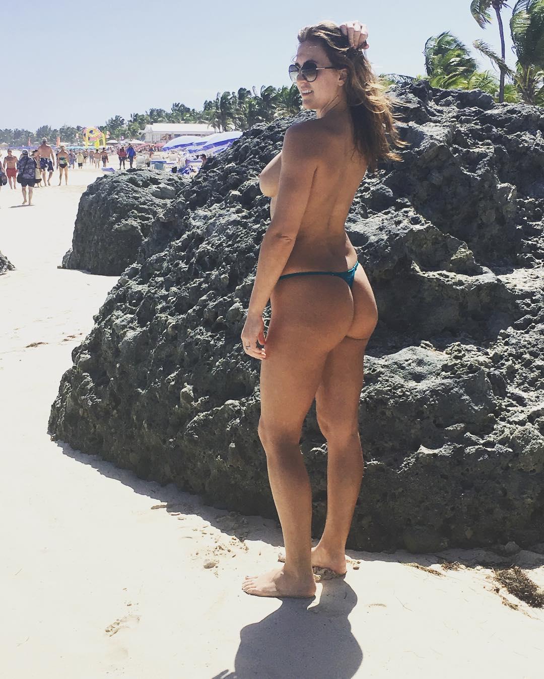 Aubrey sexy wife topless