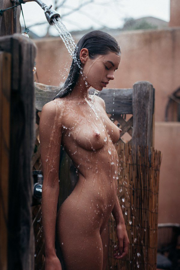 Beate Muska wet nude model