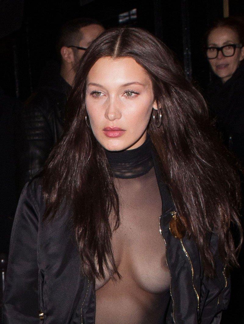 model Bella Hadid nipple