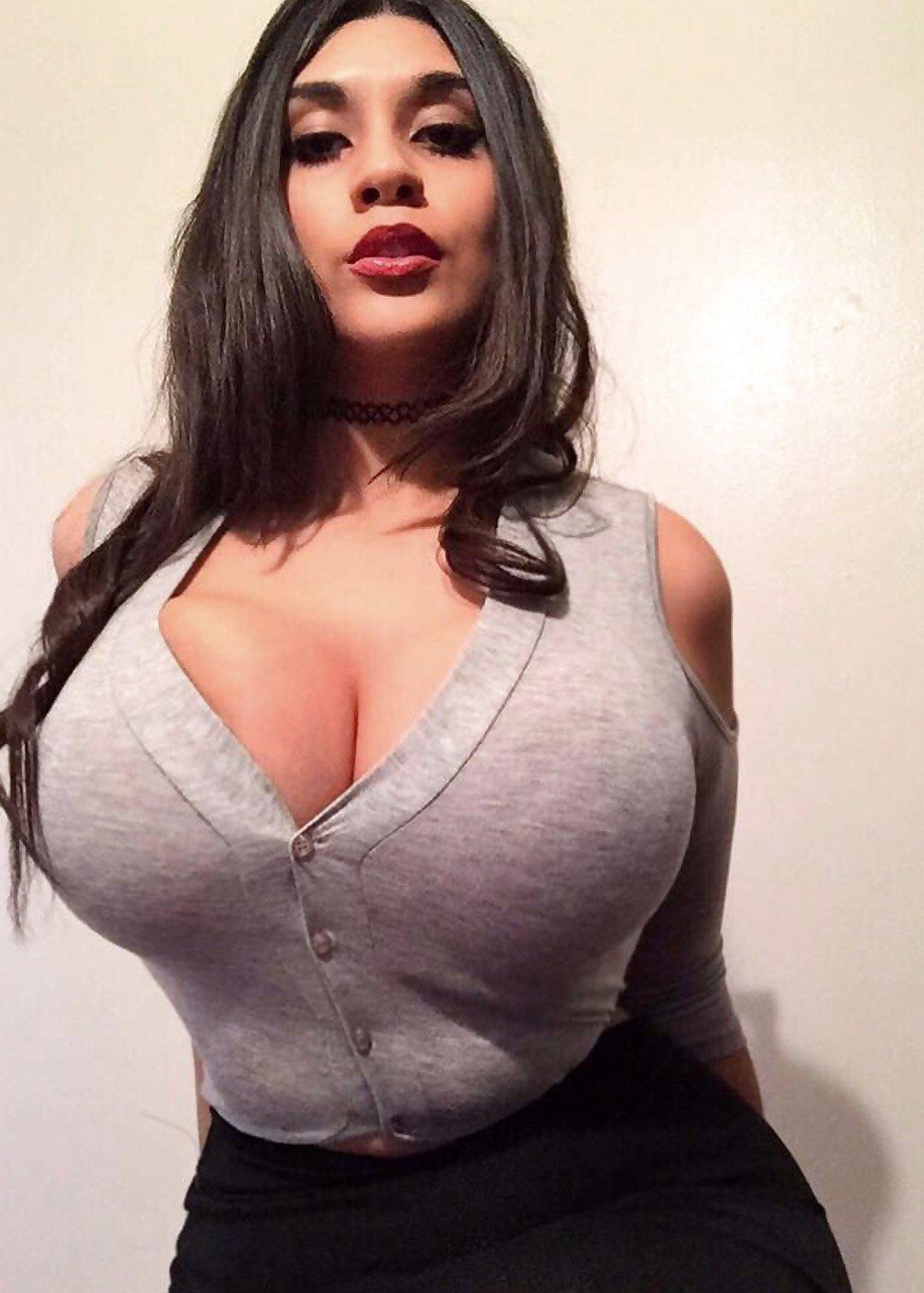 Skinny Big Boobs Tight Sweater