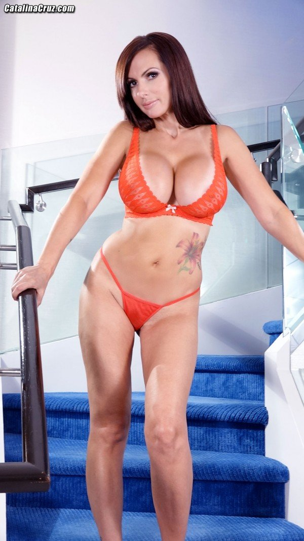 Big tits Pornstar Catalina Cruz sexy lingerie