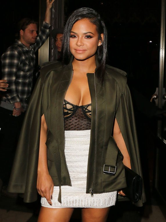 Christina Milian Areola in Black Lace Bra-feature-image