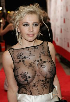 Davorka Tovilo nude boobs in sheer dress photo 3