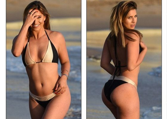 Ferne McCann hot curves in bikini