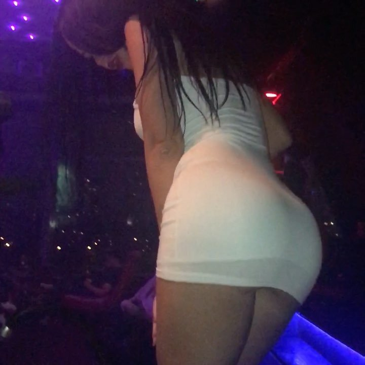 Gayana Bagdasaryan perfect ass in tight mini dress