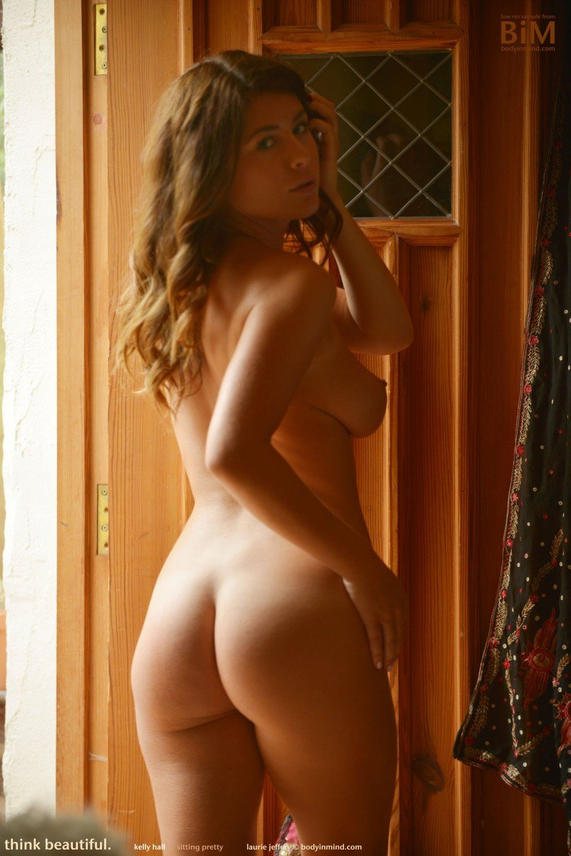 British glamour model Kelly Hall naked ass