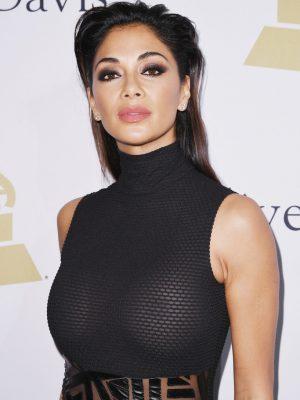 Nicole Scherzinger's Tits in Sexy Sheer Dress (4 photos)