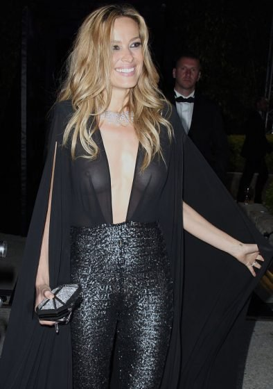 petra nemcova reveals too much in sheer jumpsuit at chopard cannes