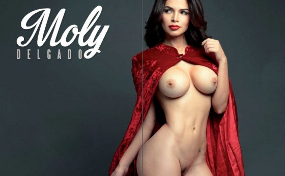 hot Venezuelan woman Moly Delgado nude in Playboy photo 2