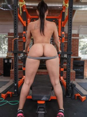 Rachel Starr Naked Workout in the Gym (18 photos)