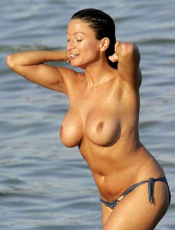 Hot titted Rebecca Loos Topless In St. Tropez