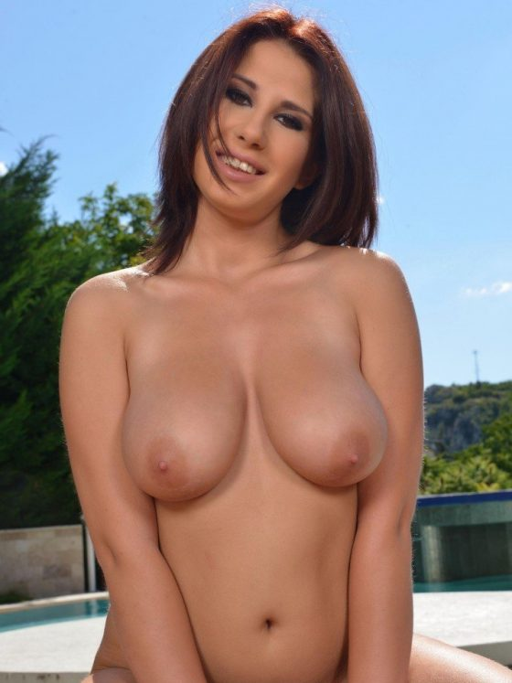 Aida Swinger – Titty Squeezing And Nipple Play By The Pool (20 photos)