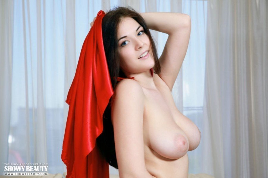 young beauty with perfect boobs naked
