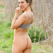 naked ass of sexy girl outdoors
