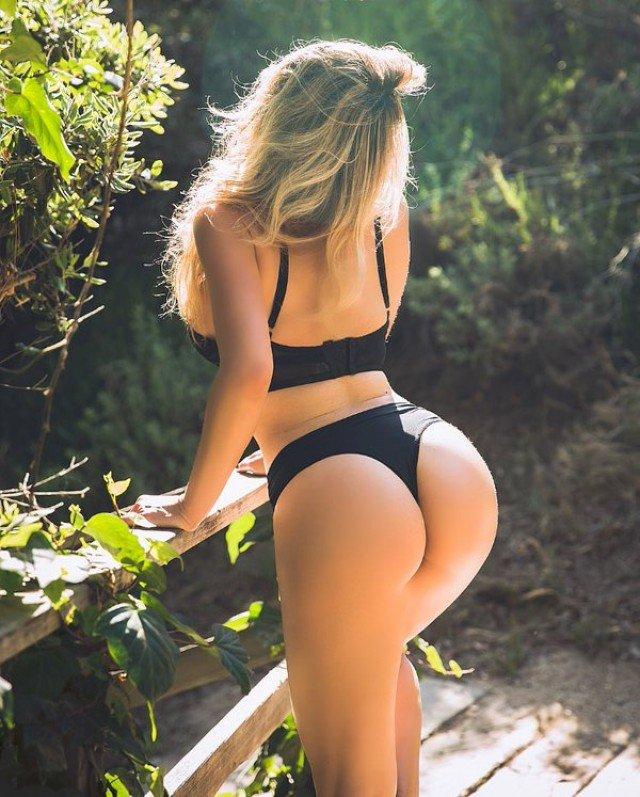 big butt in thong of beautiful girl