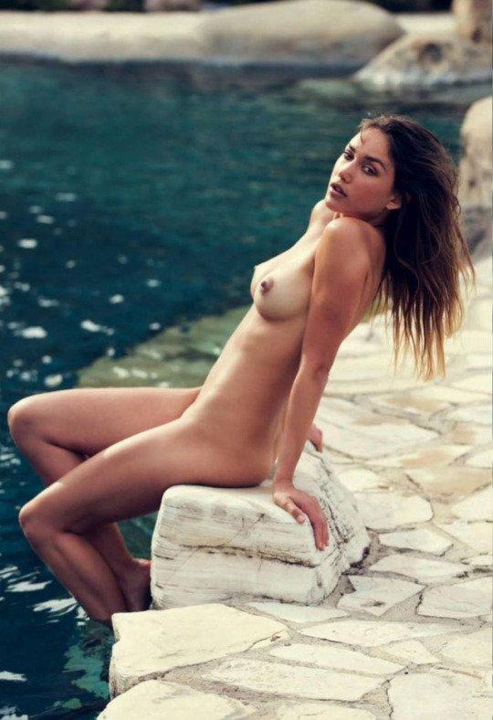 Brook Power nude poolside