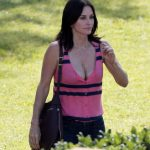 Courteney Cox – cleavy, on the set of 'Cougar Town' in LA