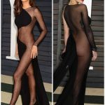 Irina Shayk and Rita Ora show off her bold sense of style in a VERY revealing black dresses!