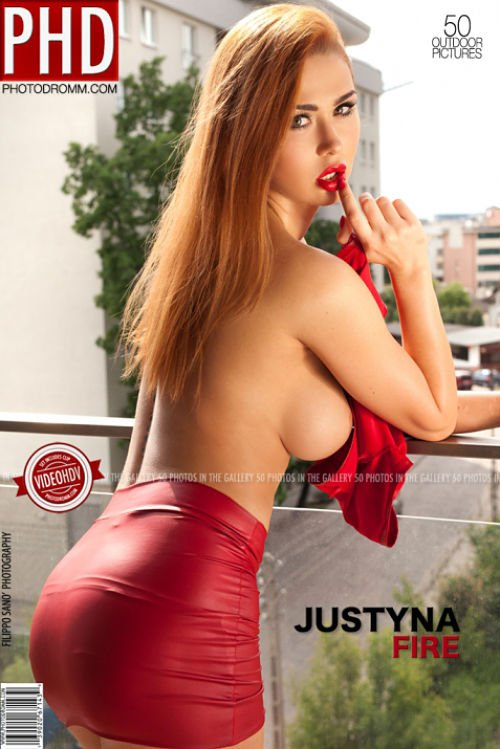 sexy redhead woman topless sideboob