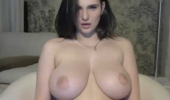 Pretty girl with great big boobs naked